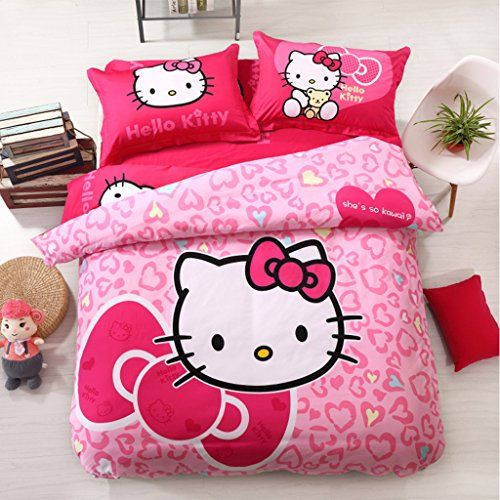 Hello Kitty Bedroom Set Twin Size Teen Girls Hello Kittyu2026
