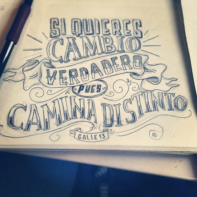 Day 5 of 365 Days of Lettering Calle13