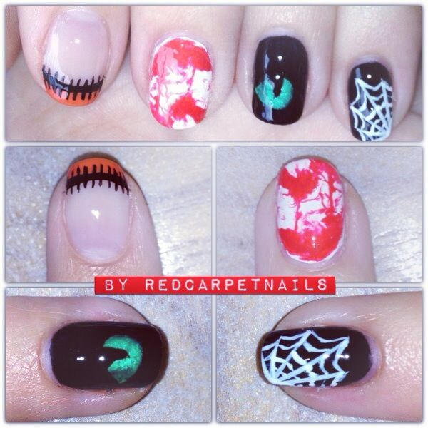 Be the talk of the town with these spooky Halloween inspired nails. Book now for your own bespoke nail designs, patterns and colours at Manicurism.  #halloween #nails #nailart #party #autumn #fall #fashion #celebrity #spooky #sexy