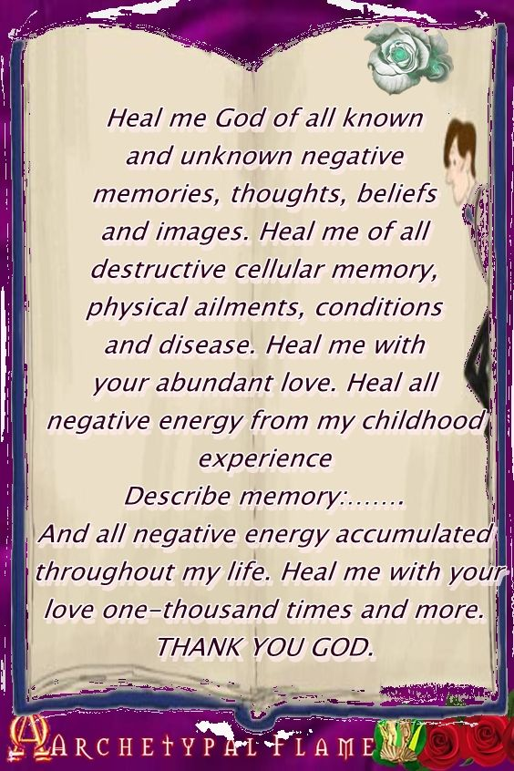 the Healing Code prayer - image Archetypal Flame
