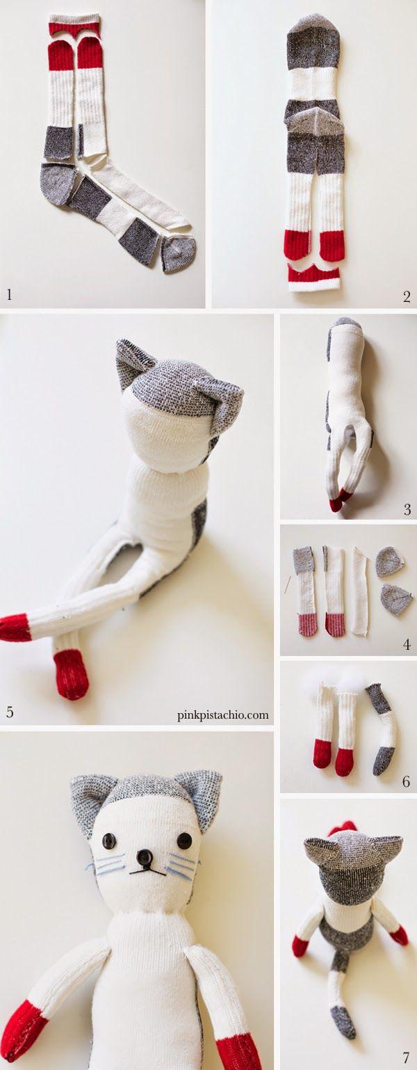 EL MUNDO DEL RECICLAJE: Recicla viejos calcetines en muñecos