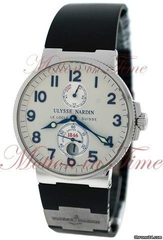 Ulysse Nardin Maxi Marine Chronometer 41mm, Silver Dial - Stainless Steel on Strap Price On Request