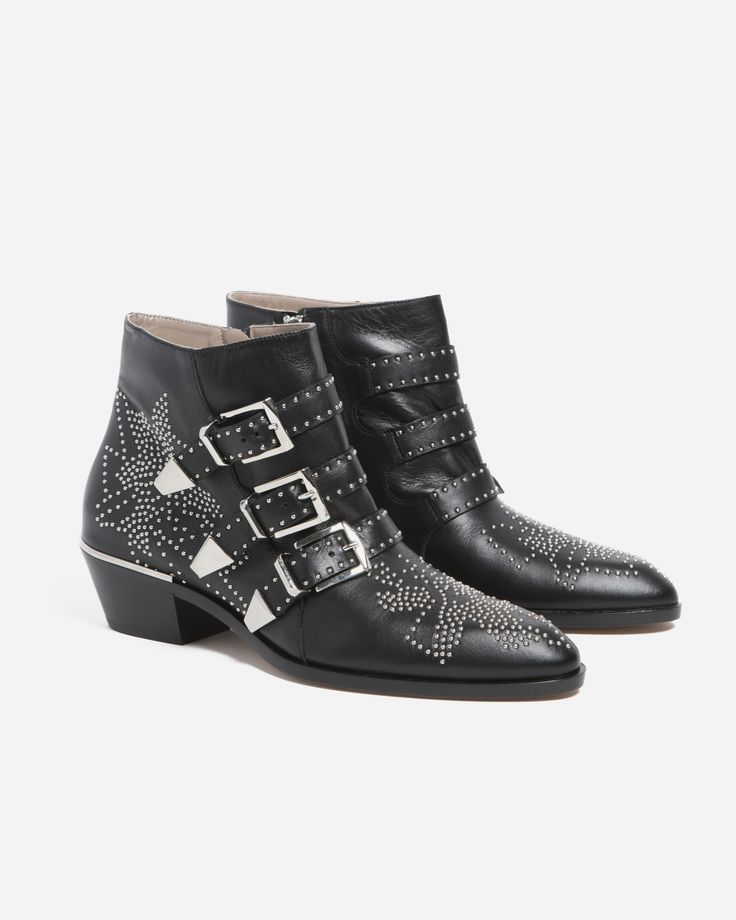 Chloé Suzanna Ankle Boot w Silver