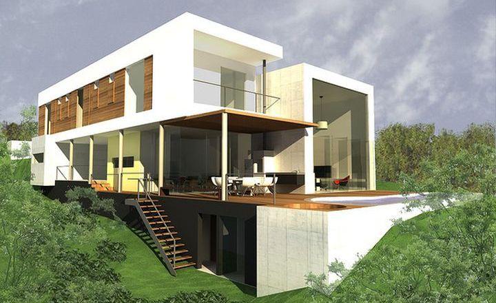 Casas Com Declive Pesquisa Google Arquitetura Pinterest