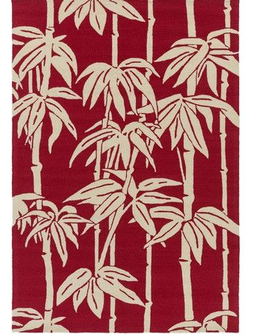Decorating tips for outdoor patios - add a bright indoor out rug - Bondi Red Tropical Rugs