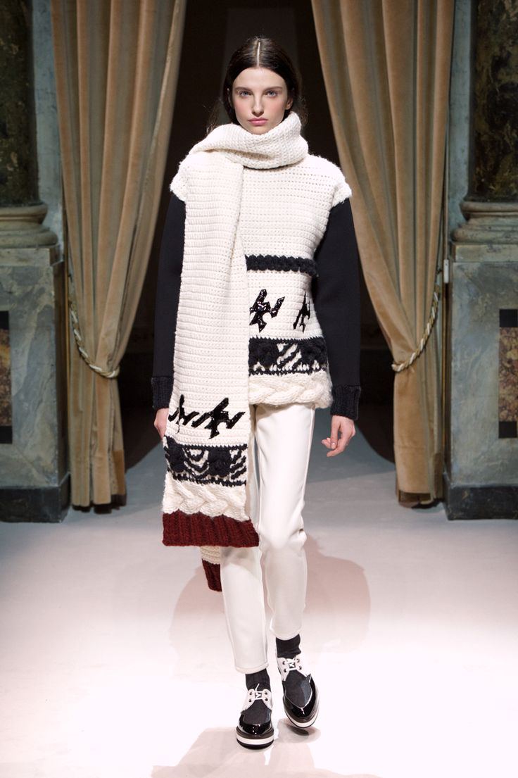 Look 10 from Fay Women's Fall - Winter 2014/15 collection seen on the catwalk.