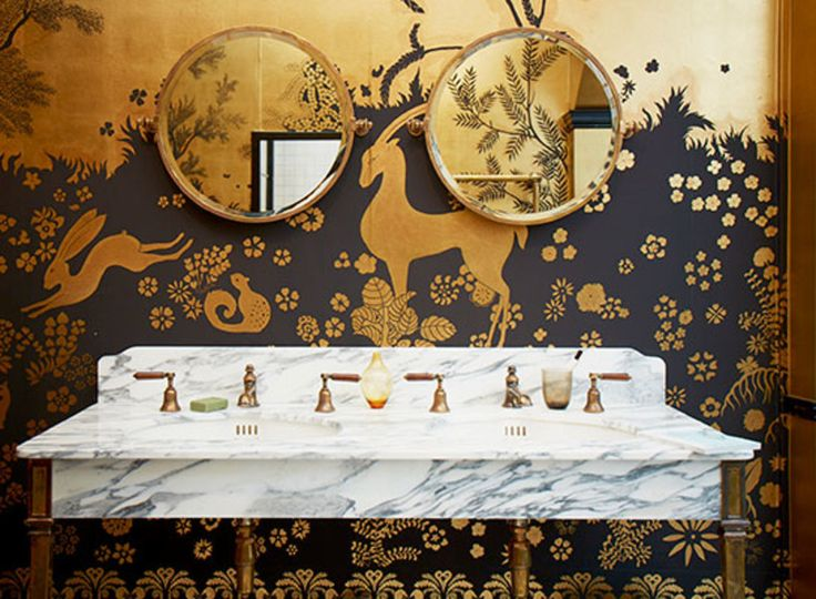 De Gournay's Rateau wallpaper installation