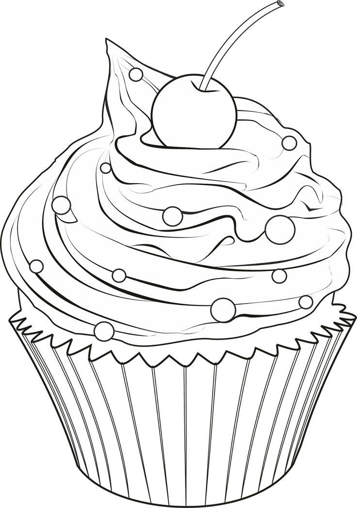 картинки с сладостями карандашом для