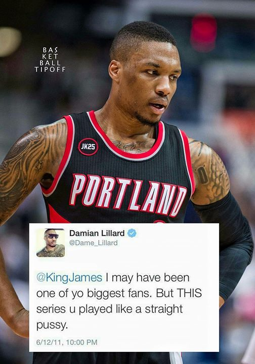 9e9953829 NBA Players Embarassing Tweets  Damian Lillard had some choice words for  LeBron James after the