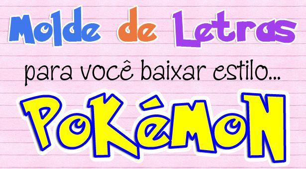 Molde de Letras e Números estilo Pokémon