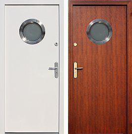 Drzwi wejściowe z aplikacjami inox model 493,1