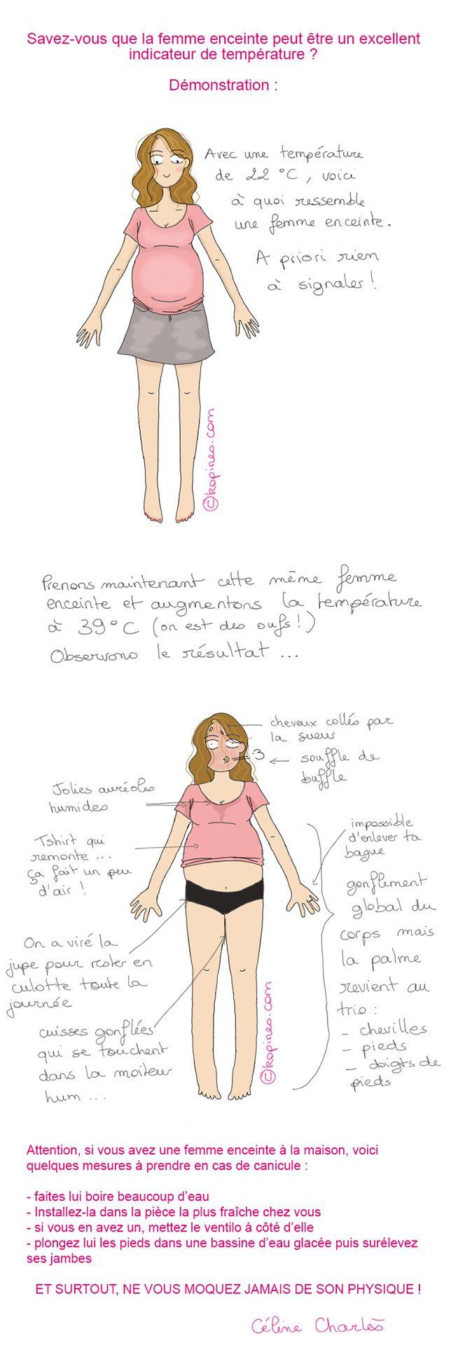 femme enceinte et canicule #humour #grossesse #femmeenceinte