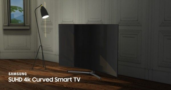 Mod The Sims: Samsung SUHD 4k Curved Smart TV by littledica • Sims 4 Downloads