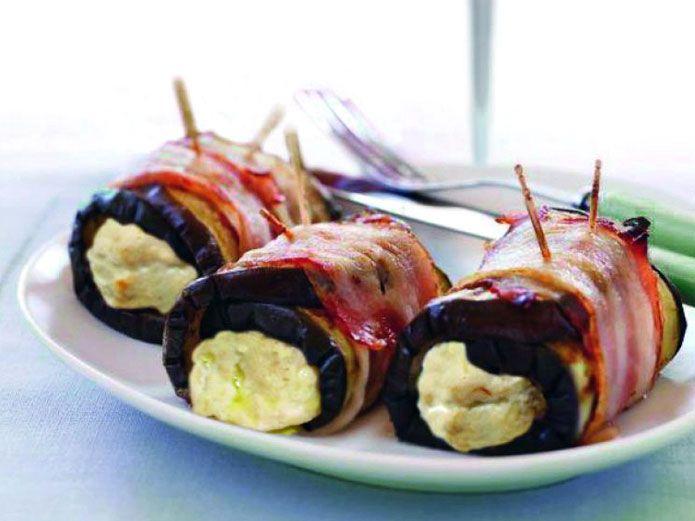Les rouleaux d aubergines farcies au fromage fontina sont une entr e l g re - Entree simple et raffinee ...