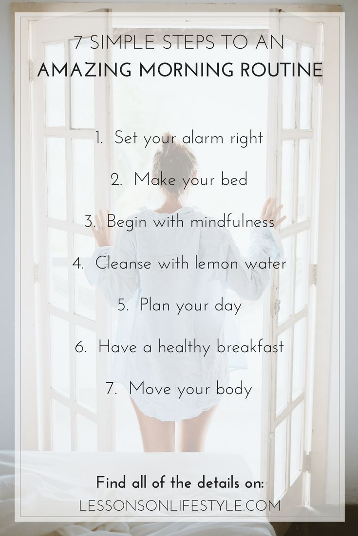 Details for the ultimate morning routine that will set you up for a happy and productive day!  Plus free daily habit tracker to download!