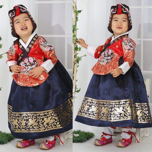 Hanbok Korean traditional suit Dress Tangyi Girl Wedding Korea Women Dolbok 4029