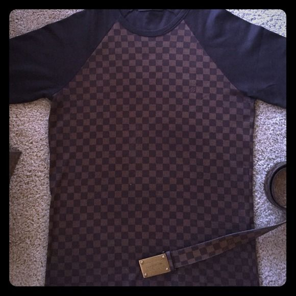100% Authentic RARE Louis Vuitton Shirt 100% authentic very *rare* discontinued brown Damier men's shirt size medium. In brand-new condition only worn twice!️️ preferred. Louis Vuitton Other