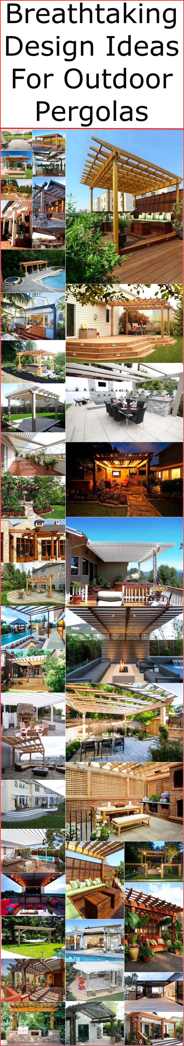 best pergola designs images on pinterest
