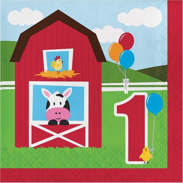 Creative Farmhouse Fun 1st Birthday Lunch Napkins