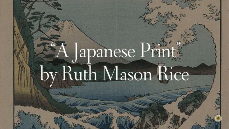 """A Japanese Print | A CURVE for the shore, A line for the lea"" #poem #poetryreading #japan #motivationmonday #asmr #asmrreading #asmrvideo #ajapaneseprint #ruthmasonrice >>> https://whatthechrysanthemumknows.com/2018/02/05/a-japanese-print/"