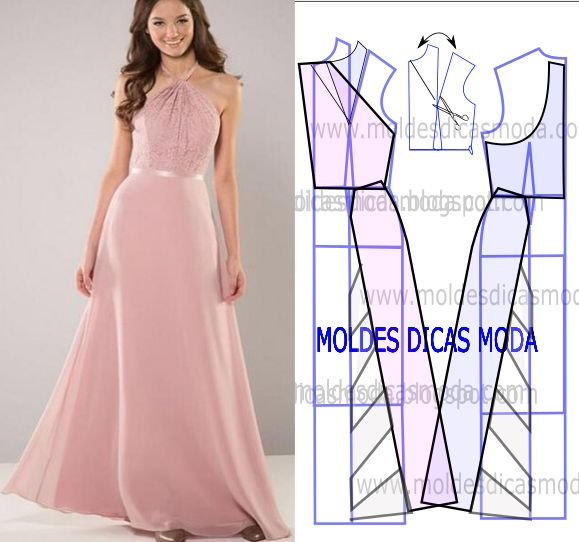 vestido rosa de festa longo