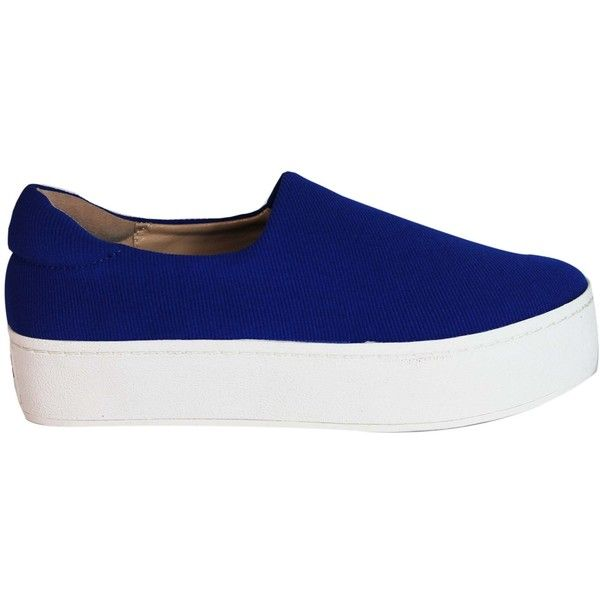 Cobalt Cici Slip On (3,370 EGP) ❤ liked on Polyvore featuring shoes, blue, womenshoessneakers, opening ceremony shoes, blue shoes, opening ceremony, pull on shoes and slip-on shoes