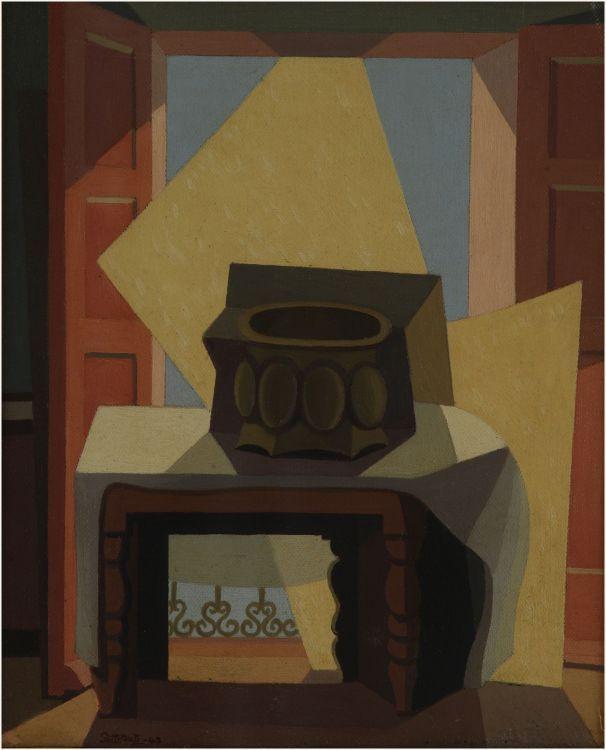 Centro de mesa (Estudio) (1947) Oleo sobre tela - Emilio Pettoruti (Argentino 1892-1971) Museo Nacional de Bellas Artes de Buenos Aires