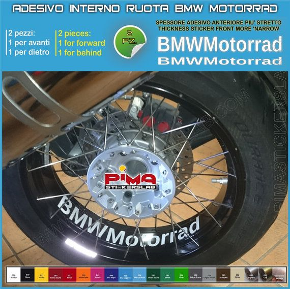 Strisce adesive cerchio BMW MOTORRAD interno di PIMAstickerslab