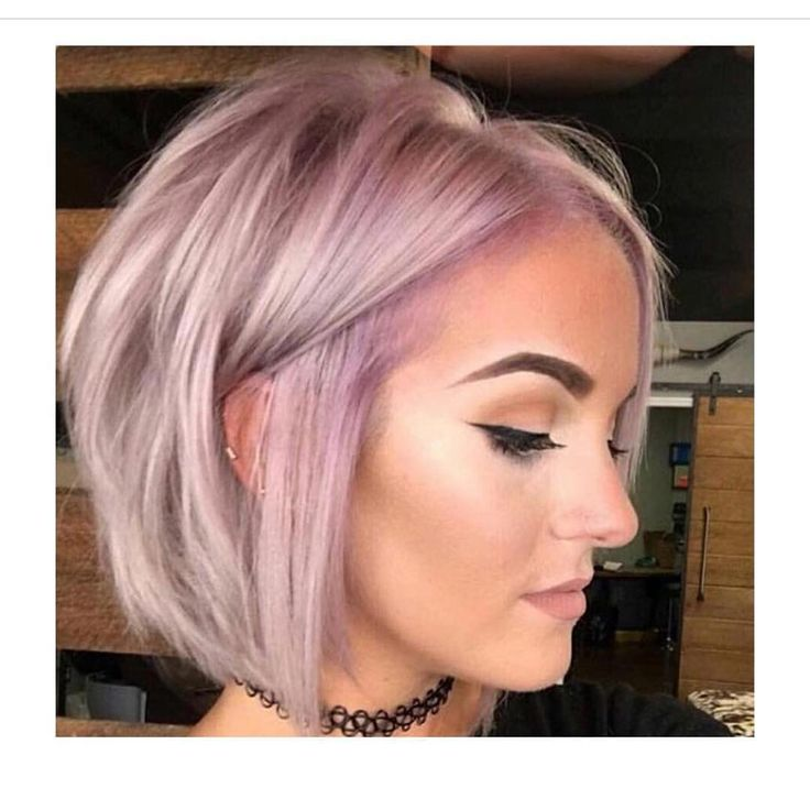 killer pink and lilac hair color atop a beautiful bob haircut by make up pinterest. Black Bedroom Furniture Sets. Home Design Ideas