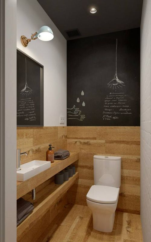 moble bany cortesia, fusta,  Diseño OOD, chalkpaint en baño. Moscú, Rusia, 2015. INT2 arch.