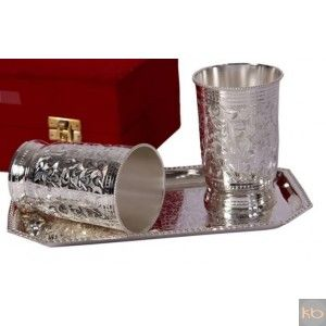 2 Silver Glass + Tray ₹1,275