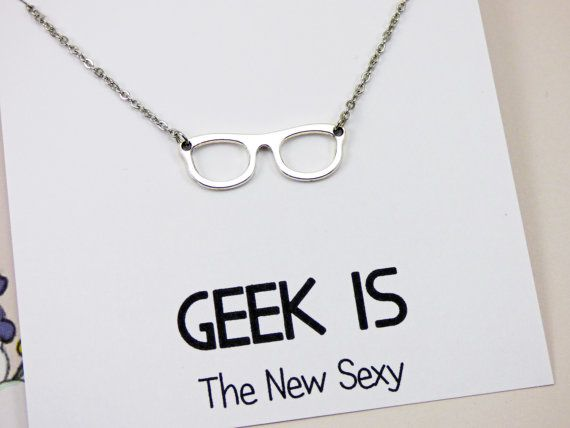 Geek Necklace nerd jewelry nerd gifts nerdy necklace by PingoVita