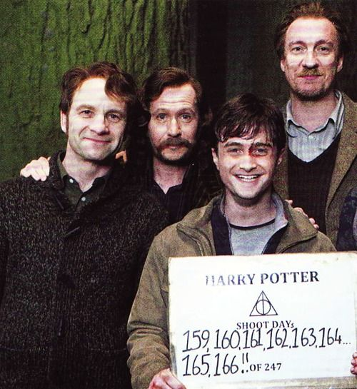 The TRUE Marauders and Harry (:  Adrian Rawlins, Gary Oldman, Daniel Racliffe, & David Thewlis: Picture, Solemnly Swear, Harrypotter, Things Potter, Harry Potter, The Marauders, Potterhead, Boy