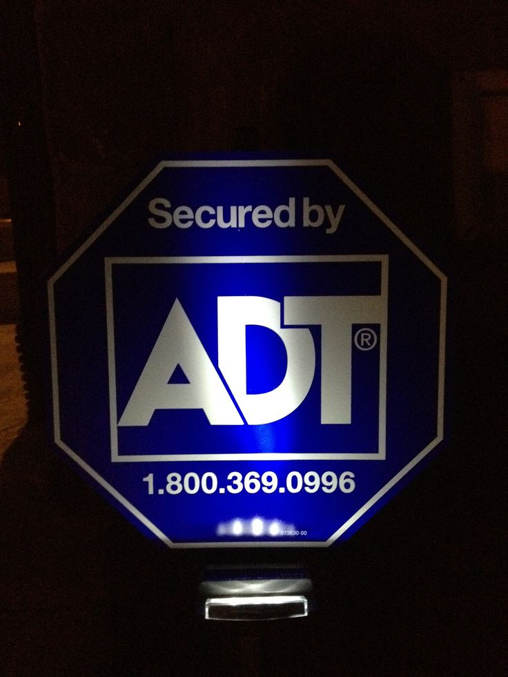 Adt Yard Sign With Solar Light Zions Security Alarms