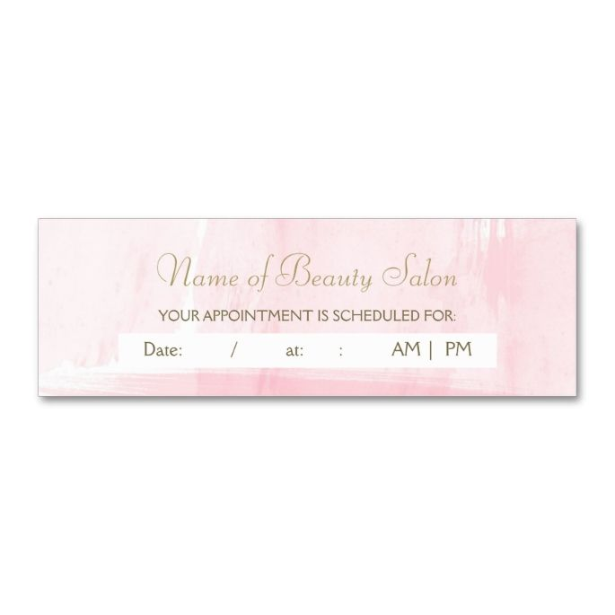 2211 best images about Appointment Business Card Templates on – Reminder Card Template