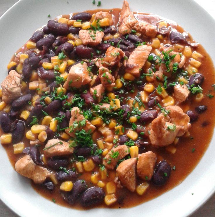 Csirkés chilis bab recept