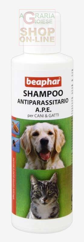 BEAPHAR SHAMPOO ANTIPARASSITARIO A.P.E. PER CANI E GATTI CONTRO PULCI E ZECCHE ML. 200 https://www.chiaradecaria.it/it/antiparassitari-cani-e-gatti/1279-beaphar-shampoo-antiparassitario-ape-per-cani-e-gatti-contro-pulci-e-zecche-ml-200-8711231158003.html