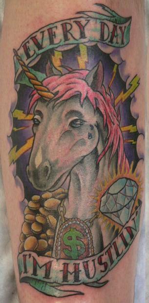 hahahahaha: Awesome, Art, Unicorn Tattoos, In Hustlin, Funny, Bad Tattoo, Things, Unicorns, Ink