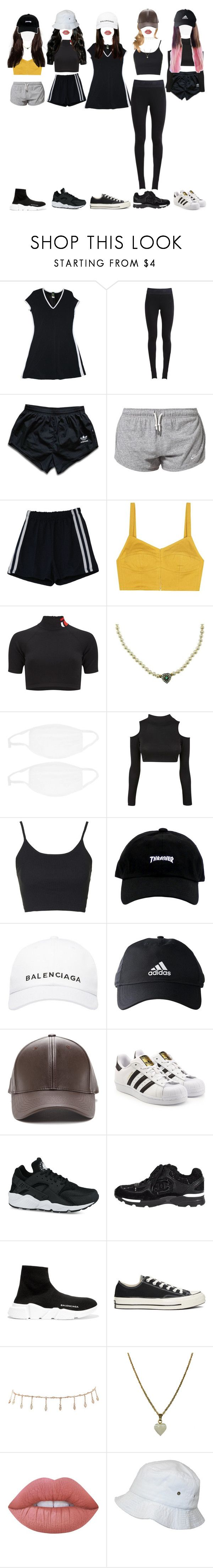 """[ predebut ] The best dancers dancing to ' Dawin - Just Girly Things '"" by xxzodiacentertainmentxx ❤ liked on Polyvore featuring NIKE, adidas, Isa Arfen, T By Alexander Wang, Topshop, Balenciaga, adidas Originals, Converse, Luv Aj and Zara Taylor"