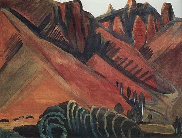 1914 Горный пейзаж. Сурб-хачские скалы. Гохтан. Х. на к., т. 36х47.5 Ярославль - Сарьян Мартирос Сергеевич