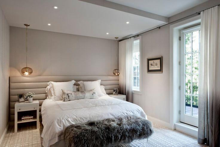 Charming grey and white master bedroom by DHD Architecture