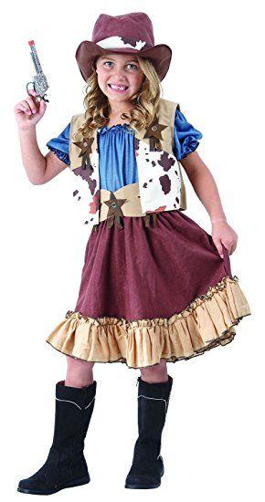 Cowgirl Kostum Kinder Komplettes Schickes Cowboy Western Kostum