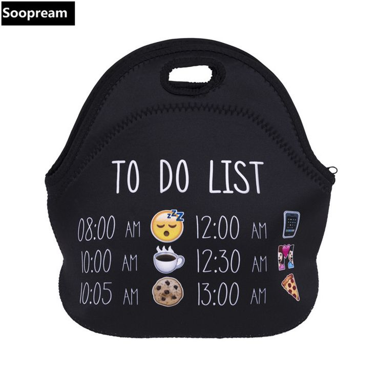 AAA quality Thermal Insulated 3d print Neoprene Lunch Bag for Women Kids Lunchbags With Zipper Cooler  Insulation Lunch Box