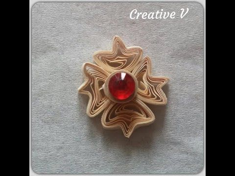 How To Make Paper Quilling Flower/ Design 6 / Tutorial - YouTube