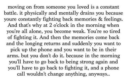 moving on from someone