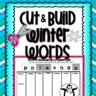 Word Building- Winter Cut and Build  This activity is a great exercise in combining sounds and creating words! Cut the scrambled letters and arrang...