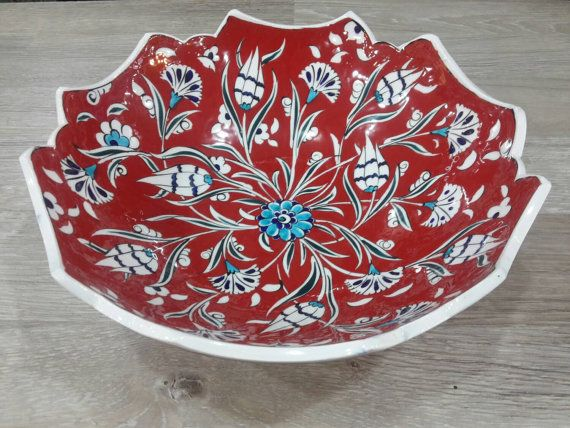 30 cm 11.81 inches handmade iznik ceramic by pashaarthouse