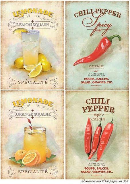 Imprimolandia: Etiquetas vintage de comida