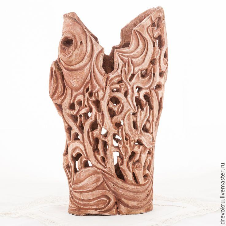 """Купить Ваза деревянная """"Вождь племени. Мексика"""" - коричневый, ваза, ваза деревянная, Изделие из дерева"""