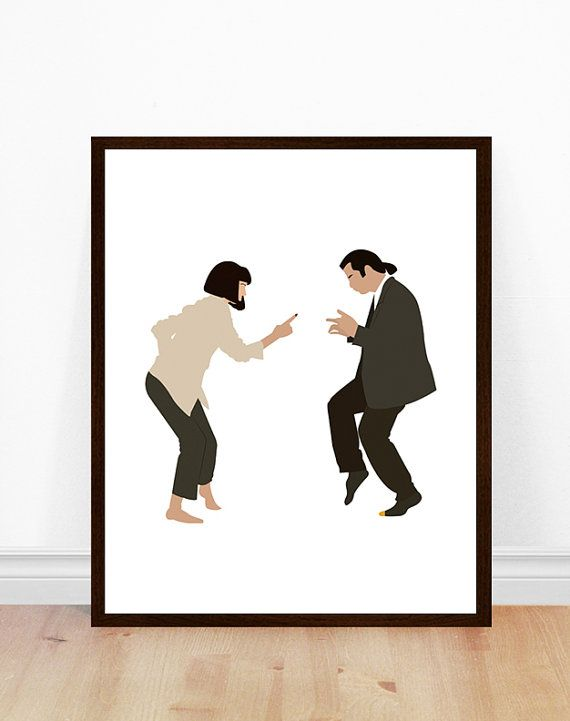 Pulp Fiction Poster, Art minimaliste, Pulp Fiction Print, affiche de film, Pulp Fiction Art, Portrait minimaliste